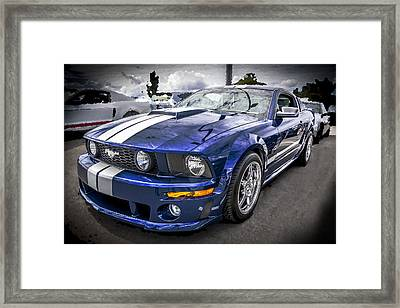 2008 Ford Shelby Mustang With The Roush Stage 2 Package Framed Print by Rich Franco