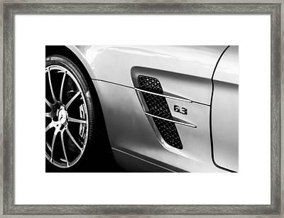 2012 Mercedes-benz Sls Gullwing Wheel Framed Print by Jill Reger