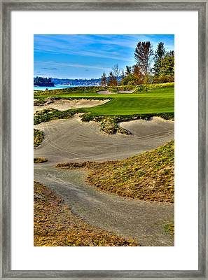 #3 At Chambers Bay Golf Course - Location Of The 2015 U.s. Open Championship Framed Print by David Patterson