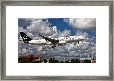 Airbus A-330 Avianca Airlines Framed Print by Rene Triay Photography