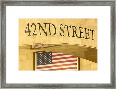 42nd Street Framed Print by Susan Candelario