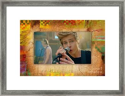 5 Seconds Of Summer Luke Hemmings Framed Print by Marvin Blaine