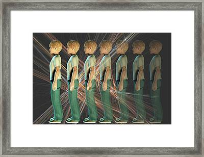 A Boy Fading From Sight Framed Print by Carol & Mike Werner