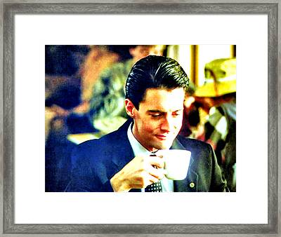 A Damn Fine Cup Of Coffee Framed Print by Luis Ludzska