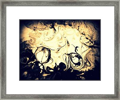 A Dance In The Dark Framed Print by Mlle Marquee