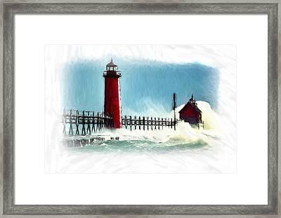 A Day At The Coast Framed Print by Steve K