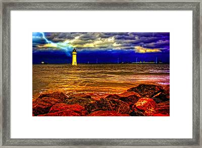 Fort Perch Lighthouse Framed Print by Ken Biggs