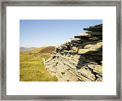 A Dry Stone Wall On Lingmoor Framed Print by Ashley Cooper