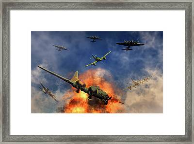 A German Messerschmitt Bf 109 Attacking Framed Print by Mark Stevenson