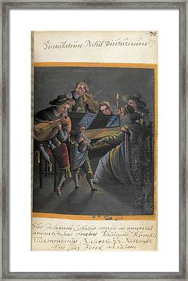 A Group Of Musicians Framed Print by British Library