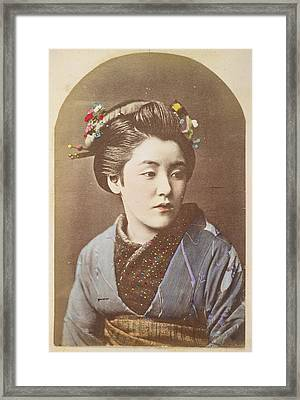 A Japanese Lady Framed Print by British Library