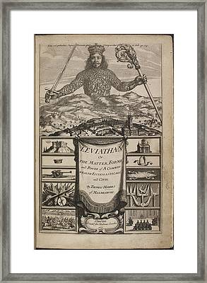 A King With A Crown Holding A Sword Framed Print by British Library