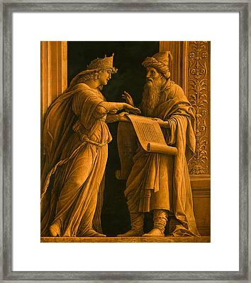 A Sibyl And A Prophet Framed Print by Andrea Mantegna