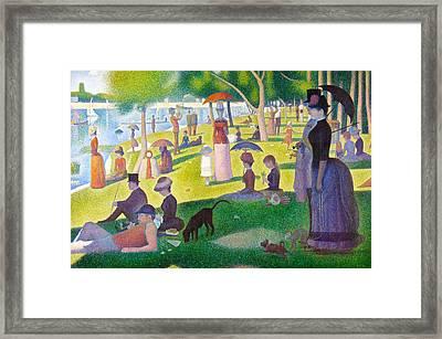 A Sunday On La Grande Jatte Framed Print by Georges Seurat