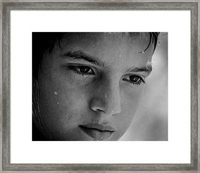 A Thoughtful Young Man Framed Print by Mountain Dreams