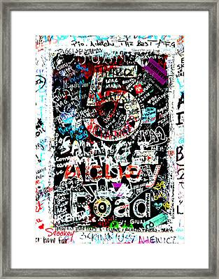 Abbey Road Graffiti Framed Print by Stephen Stookey
