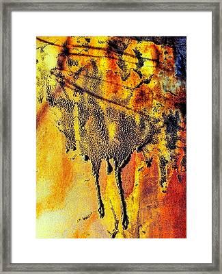 Ablaze Framed Print by Tom Druin