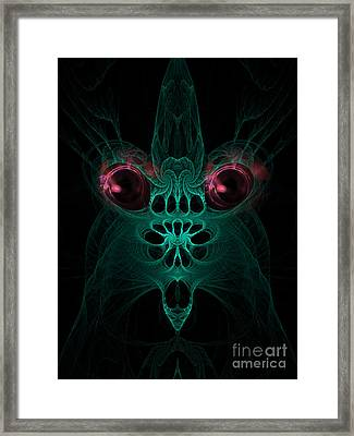 Abstract Artistic Scary Creature Framed Print by Indian Summer