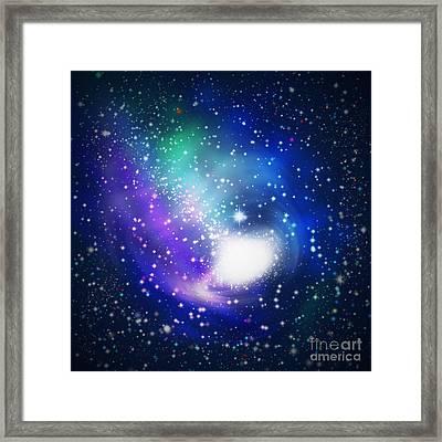 Abstract Galaxy Framed Print by Atiketta Sangasaeng