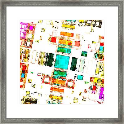 Abstract Geometric Art Framed Print by Phil Perkins