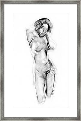 Abstract Nude Framed Print by Stefan Kuhn