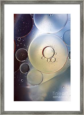 Abstraction Oil Bubbles In Water Framed Print by Odon Czintos