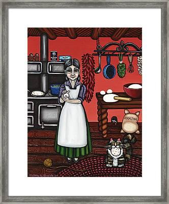 Abuelita Or Grandma Framed Print by Victoria De Almeida