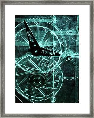 Acrylic Clock Design Framed Print by Public Health England
