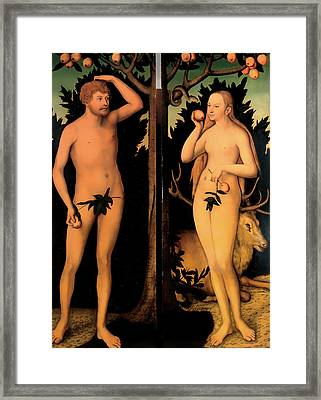 Adam And Eve Framed Print by Mountain Dreams