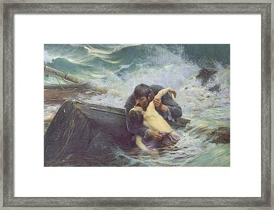 Adieu Framed Print by Alfred Guillou