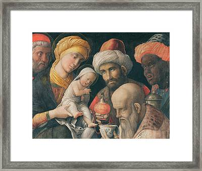Adoration Of The Magi Framed Print by Andrea Mantegna