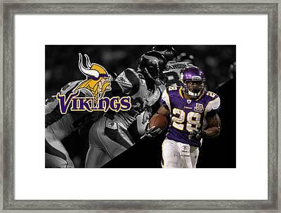 Adrian Peterson Vikings Framed Print by Joe Hamilton