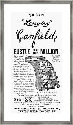 Advertisement: Bustle Framed Print by Granger