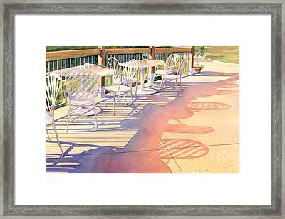 Afternoon Shadows At Les Bourgeois Framed Print by Brenda Beck Fisher