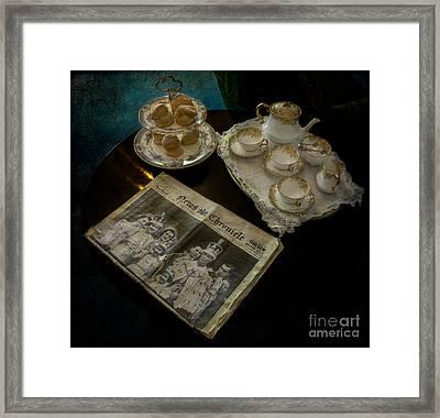 Afternoon Tea Framed Print by Adrian Evans