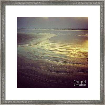 Agate Beach Sunset Framed Print by Andrea Gingerich