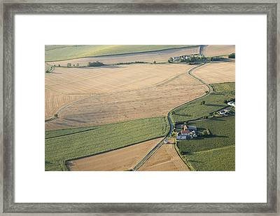 Agricultural Landscape Of The Vienne Framed Print by Laurent Salomon