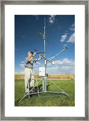 Agricultural Weather Station Framed Print by Peggy Greb/us Department Of Agriculture