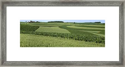 Agriculture - Contour Strips Of Mid Framed Print by Timothy Hearsum