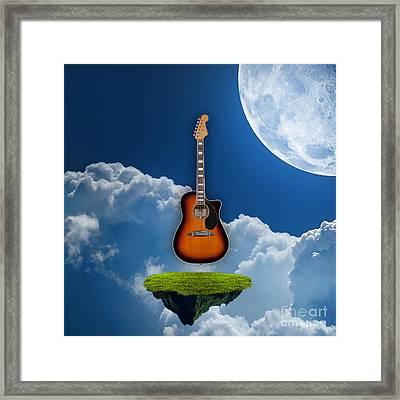 Air Guitar Framed Print by Marvin Blaine