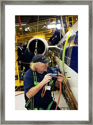 Aircraft Modification Framed Print by Jim West