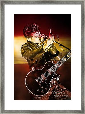 Alex Turner Framed Print by Marvin Blaine