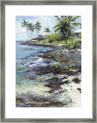 Ali'i Drive Homes Framed Print by Stacy Vosberg