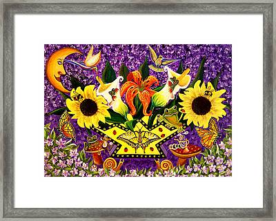 All Gods Creatures Framed Print by Adele Moscaritolo
