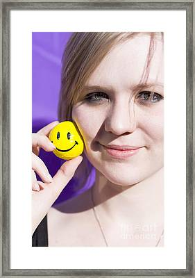 All Smiling Woman Framed Print by Jorgo Photography - Wall Art Gallery