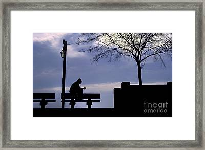 Alone Time Framed Print by Mike Nellums