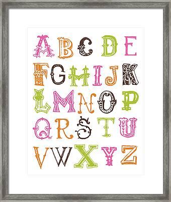 Alphabet Poster Framed Print by Jaime Friedman