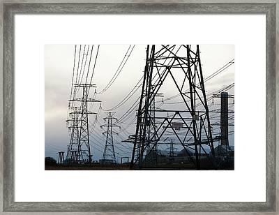 Aluminium Smelting Plant Framed Print by Ashley Cooper