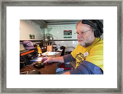 Amateur Radio Operator Framed Print by Jim West