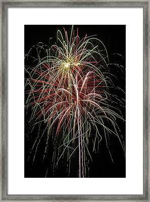 Amazing Fireworks Framed Print by Garry Gay